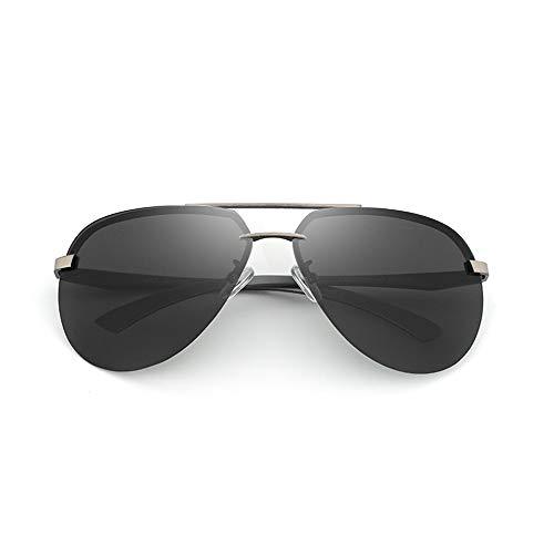 JU DA Sonnenbrillen Aluminium Hd Polarisierte Luftfahrt Sonnenbrille Frauen Männer Fahren Sonnenbrille Vntage Oculos De Sol C03 GRAY SCHWARZ