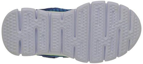 Skechers Synergy Mini Knit, Baskets Basses Garçon Bleu (Bleu/Jaune)