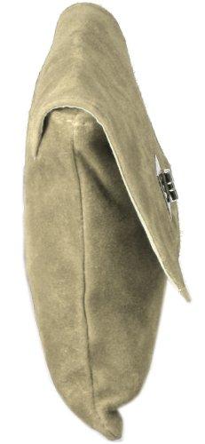 Accessori Emmy Minelli Xl-pochette / Borsa Da Sera In Pelle Scamosciata, Sabbia 28x22cm (larghezza X Altezza)