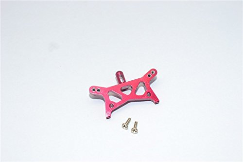 Team Losi Micro T Tuning Teile Aluminium Front Shock Tower With Screws - 1Pc Set Red