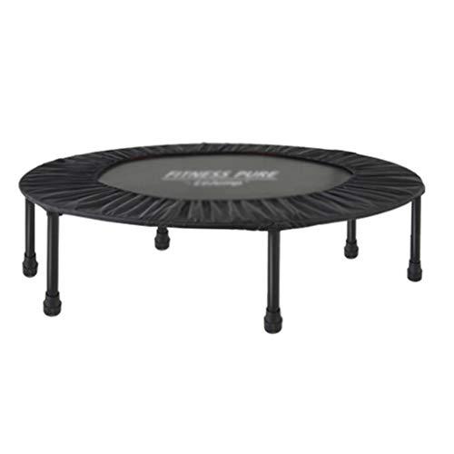 Trampolini elastici per interni trampolino elastico fitness trampolino pieghevole trampolino salto allenamento trampolino elastico per la perdita di peso (color : black, size : 102 * 102 * 30cm)