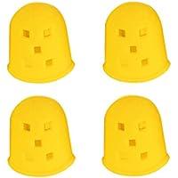 SUPVOX 4 Stück Silikon Fingerschutz Gitarre Fingerkuppenschutz für Gitarren Bass Ukulele Mandoline Größe L (Gelb) preisvergleich bei billige-tabletten.eu