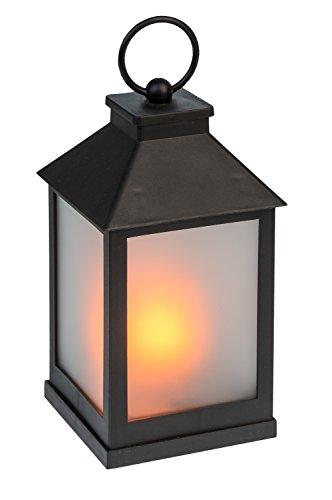 Idena 31094 - Laterne mit 36 LED in flackernder Flammenoptik, mit 6 Stunden Timer Funktion, Batterie betrieben, für Hochzeit, Party, Deko, Weihnachten, als Stimmungslicht, ca. 10 x 10 x 22 cm (Led-party-laterne)