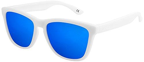 X-CRUZE 9-018 X0 Nerd Sonnenbrillen polarisiert Style Stil Retro Vintage Retro Unisex Herren Damen...