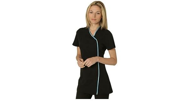 a20f164229b Charm Tunic BLACK/BLUE trim size 8: Amazon.co.uk: Clothing