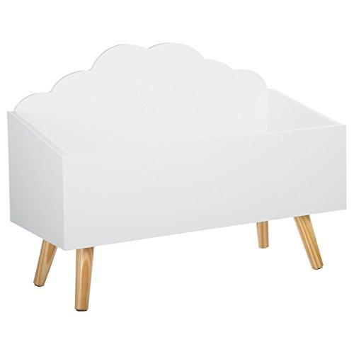 Baúl de juguetes Mueble de almacenamiento - Forma Nube - Color BLANCO