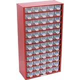 Kennedy Kleinteilemagazin Schubladenschrank aus Stahl 551x306x155 mm mit 60 Schubladen rot