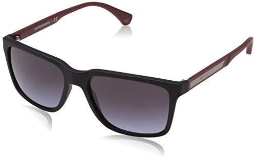 Ray-Ban Herren 56518G Sonnenbrille, Schwarz (Black Rubber), 56