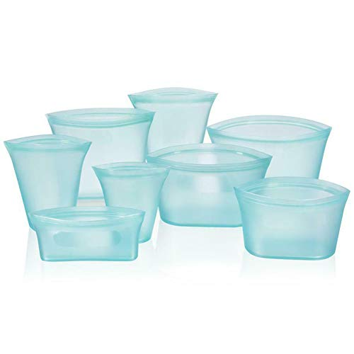 Amneria Multifunktions Zip Lock Auslaufsichere Behälter Geschirr Taschen Set Kunststoff-Free Kitchen Supplies - Blue Open Vegetable Bowl