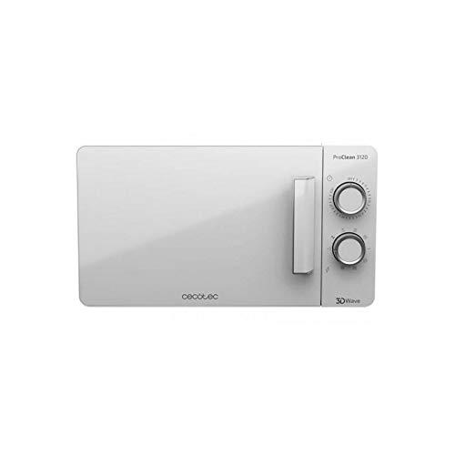 Cecotec Pro Clean 3120 Mikrowelle 700 W Mit Quarz Grill 800 W Mit Antibaktierieller Ready 2 Clean Beschichtung 3D Wave Technologie 20 L Garraum 6 Stufen Full White Frontaltür In Fullwhite