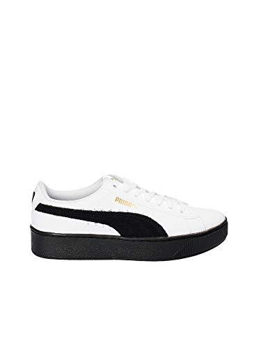 Puma Sneakers Vikky Platform L Bianco-Nero 364893-04 (38.5 - Bianco)