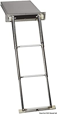 Scaletta a scomparsa 3 gradini English: 3-step foldaway ladder