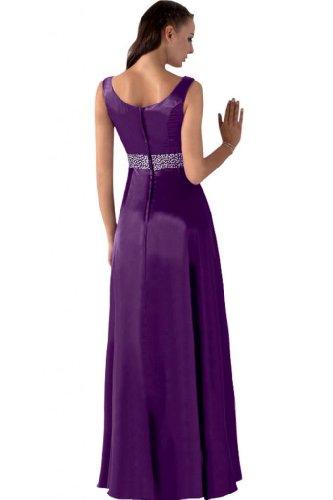 Sunvary Gorgeous Scollo quadrato strass, tacco Gowns Grape