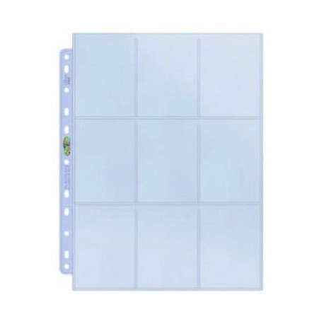 50 Ultra Pro 9-Pocket Silver Series Pages Ordnerseiten für 3-Ring Album - Magic: The Gathering - Yu-Gi-Oh! - 9 X 9 Binder
