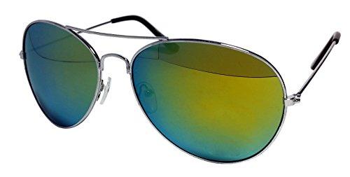 Sonnenbrille Aviator für Damen und Herren 100% UV400,80er, Retro, Nerd-Brille, verschiedene...