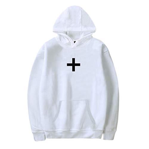 Drop-leaf Top (Sulifor Damen Hooded Sweater Tops Outwear Hoodie Outwear Leaf 3D Druck Kapuzenpullover Sweatshirt Mit Taschen)