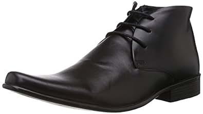 Franco Leone Men's Black Leather Boots - 11 UK/India (45 EU)