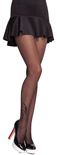 Merry Style Damen Strumpfhose Lycra MS 314 20 DEN (Schwarz, M (36-40)) -