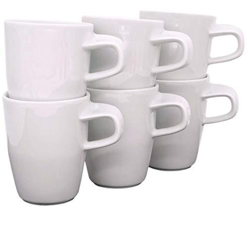 Kahla 39E103A90039C Elixyr Becher-Set für 6 Personen weiß modern Kaffeebecher 6-teilig 350 ml Henkelbecher Porzellanbecher Set Tee Kakao Tassenset