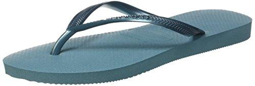 Havaianas Slim, Tongs Femme Bleu (Mineral Blue)