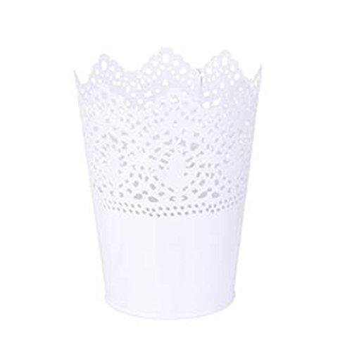 Pixnor Kunststoff Blume Vase Topf Stift Make-up Pinsel Halter Lagerung Halter Stifthalter (weiß)