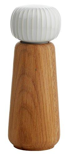 Kähler Design Mühle/Gewürzmühle - Hammershøi - Weiß - Keramik - Holz - Höhe 17,5 cm