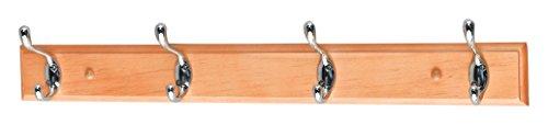 Aspect - Appendiabiti con ganci, da parete, in legno di alta qualità, 53 x 9 x 7,5 cm, colore: rovere