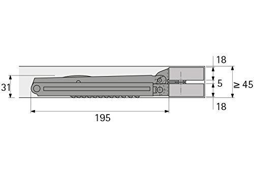 Bisagra Plegable rastomat Cabezal REFORZADO El es chlag Multiflex 13-fach ajustable hochstellst/ütze metal galvanizado hochstellbeschlag para Cabeza /& PATA m/öbelbeschl/äge de gedotec