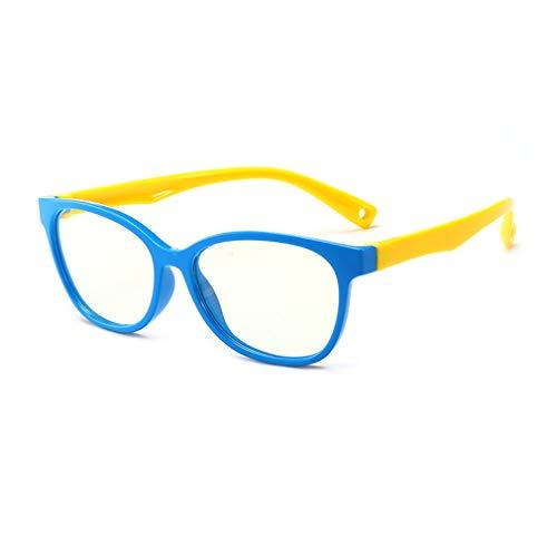 Hibote Mädchen Jungen Anti Blaulicht Brillen - Silikon - Klare Linse Gläser Rahmen Geek/Nerd Brillen mit Auto Form Brillenetui - 18083005