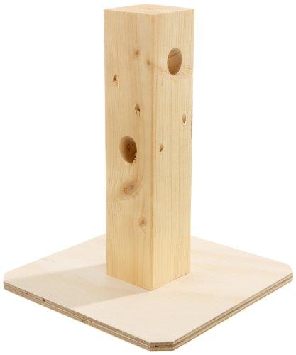 """Elmato 10520 Knabberbaum """"Rübli"""" mit div.Löchern ohne Futter"""