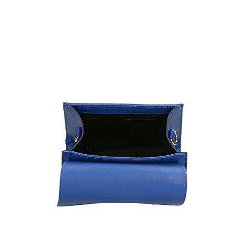 El Envío Libre De Calidad Para La Venta Chicca Borse Borsa a mano in pelle 20x18.5x11 100% Genuine Leather Blue Comprar Barato Almacenista Geniue Finishline Baúl En Venta Tienda De Espacio Libre Envío Libre A4IXLI0
