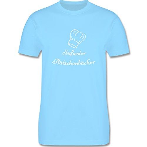 Weihnachten Geschenk für Männer - Süßester Plätzchenbäcker - L190 - Premium Männer Herren T-Shirt mit Rundhalsausschnitt Hellblau