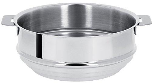 Cristel - CVU24Q- Cuit vapeur universel inox 24cm sans poignée amovible - Collection Mutine