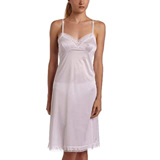 Vanity Fair Women's Rosette Lace Full Slip 10103, Star White, 42, 26 Inch