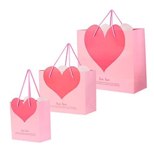 TOYANDONA 6 stücke Herz Papiertüte Herz Geschenk Süßigkeiten Verpackungsbeutel Hochzeit Gefälligkeiten Tasche Partei Liefert