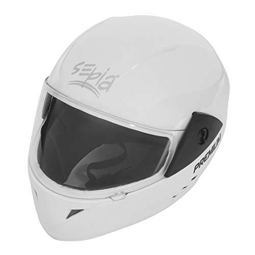 Sepia Premium Rider Full Face Helmet (Metallic White, M to L) ISI Approved