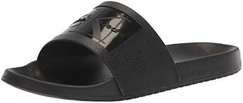 Calvin Klein Jeans Vincenzo Jelly Blk, Sandalias de Punta Descubierta para Hombre, Negro (Black S0547Blk), 45 EU