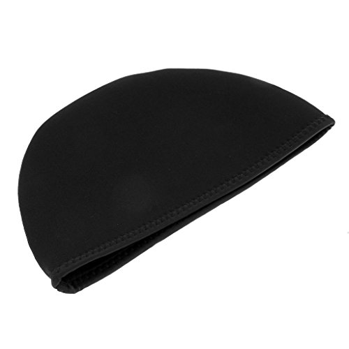 Sharplace Neopren Beanie - 2mm Neopren Mütze Hut - Neoprenhaube - S 53 bis 57 cm, Schwarz