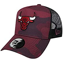 A NEW ERA Gorra Ajustable NBA Chicago Bulls Camo Color Trucker  Granate Negro Multi 548d3a4d3a9