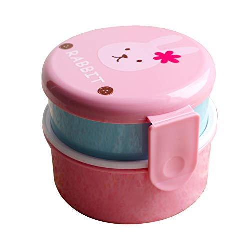 CAheadY Mini Student Kinder Bento Food Container Doppelschicht Mikrowelle Lunchbox Pink (Rosa Lego-lunch-box)