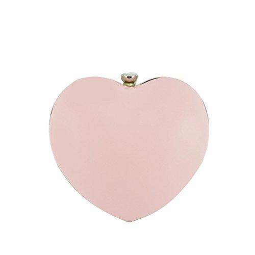Cuore A Forma Di Colore Macchia Moda Dolce Bello Colore Sacchetto Di Banchetto Festa Borsa Da Sera Pink