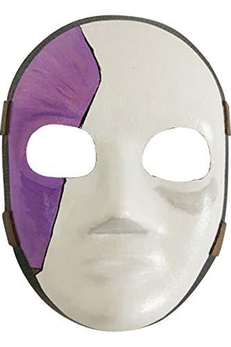 lay Mask für Weihnachten, Party, Halloween, Film Maske mit Haar Kostüm Zubehör Hautfarbe ()