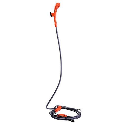 Zerone Outdoor Dusche, 12 V Auto Stecker Outdoor Tragbare Dusche Fahrzeug-Dusche Kit für Camping Reise