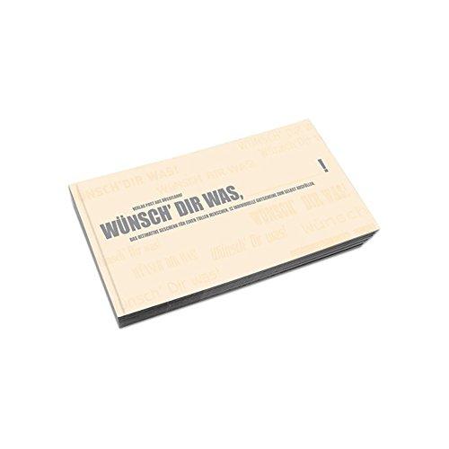 'Libro de cupones 'en blanco Wünsch Dir was | regalo para hombres, cumpleaños, libro de cupones Tiempo a segundo, precio en el palo
