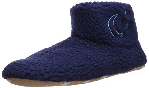 Life Is Good Damen Cozy Bootie-Hausschuhe Athletic-Socks, Damen, 67.84941.18.003.51.93, Stars Dark Blue, Small/Medium (Fits Shoe Size 5.5-8)