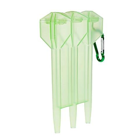 MagiDeal Protable Boîte de Rangement Cas Dromadaire Transparent avec Crochet de Serrure Pour 3 Fléchettes Acier,à Pointe Souple - vert, Taille unique