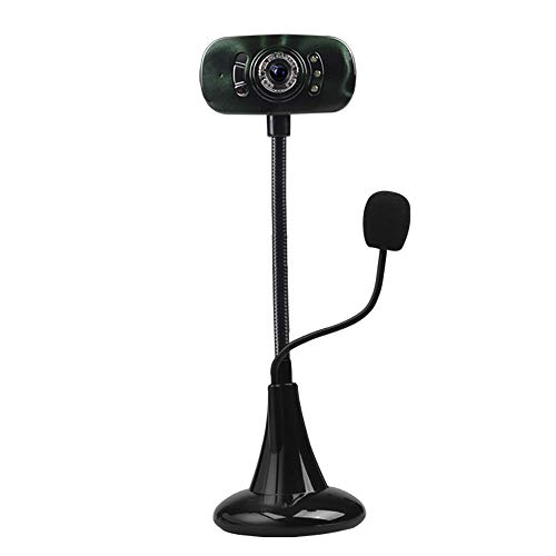 m 1080P, PC-Skype-Kamera, Webcam mit Mikrofon, Videoanruf und Aufzeichnung für Computer Laptop Desktop, Plug & Play-USB-Kamera für YouTube-Videoübertragung,DarkGreen ()