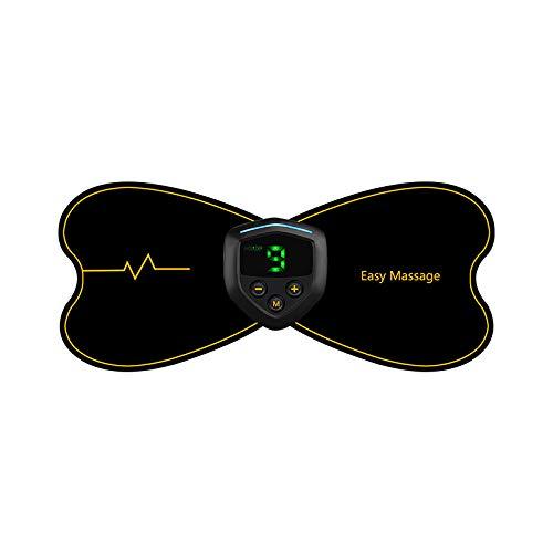 Tragbares Elektrisches Mini-Nackenmassagegerät, Zervikal Massage Stimulator, USB-Schnellladung, Einstellbare Intensität, Schmerzlinderung für Nacken, Schultern, Rücken, Taille, Beine