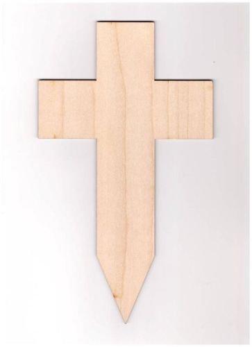 10 x Kreuz blank Form Grab Holz Basteln Malen Dekoration Wohnen Friedhofn Trauer
