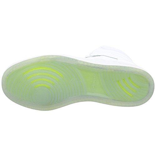 adidas Cf Super Hoops Mid, Sneaker a Collo Alto Uomo Bianco (Footwear White/footwear White/grey Two)